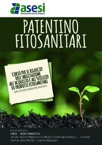 Asesi al via i corsi per i certificati obbligatori per la vendita, l'acquisto e la consulenza per l'impiego dei prodotti fitosanitari