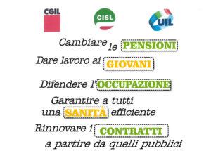 Giornata di mobilitazione Cgil Cisl e Uil sabato 14 ottobre ore 10 Prefettura di Lecce
