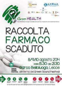 Cisl e APMAR insieme per Green Health dall'8 al 10 agosto a Lecce appuntamento con la raccolta del farmaco scaduto