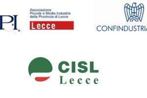 Siglato il protocollo d'intesa tra Confindustria, Api, Cgil, Cisl e Uil di Lecce per la contrattazione decentrata