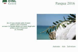 Auguri di Pasqua dalla Segreteria generale della Cisl di Lecce