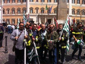 I vigili del fuoco del Salento alla manifestazione nazionale di Roma