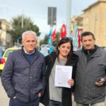 Mobilitazione Sanità e Welfare di Cgil Cisl e Uil di Lecce Presidio Vecchio Vito Fazzi