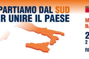 Ripartiamo dal Sud per unire il Paese. Manifestazione nazionale di Cgil, Cisl e Uil il 22 giugno a Reggio Calabria