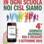 Cisl Scuola Lecce IV Giornata nazionale RSU e delegati domani alle ore 9 presso Hotel delle Palme