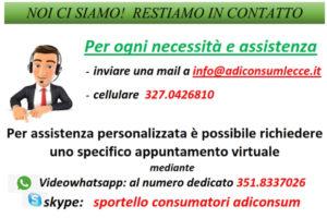 Sportello Virtuale Adiconsum Lecce