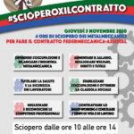 #Scioperoperilcontratto: 4 ore di Sciopero per il rinnovo del Contratto dei Metalmeccanici