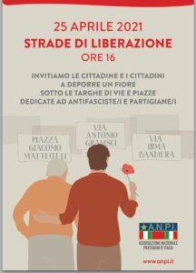 """""""Strade di Liberazione"""", la Cisl di Lecce aderisce all'iniziativa di Anpi del 25 aprile"""