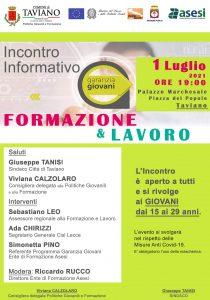 Formazione e Lavoro, a Taviano l'incontro informativo a tema Garanzia Giovani